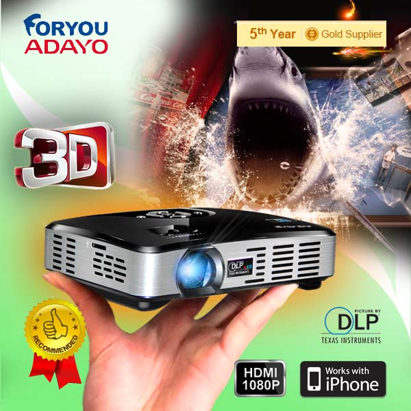 ADAYO factory 3D mini projector support 2D,2D to 3D, 3D