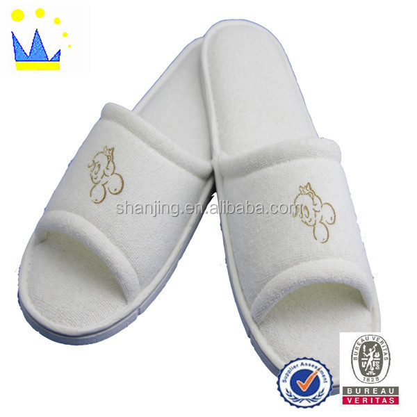 printed eva eco-friendly hotel slippers cheap slipper open toe slipper
