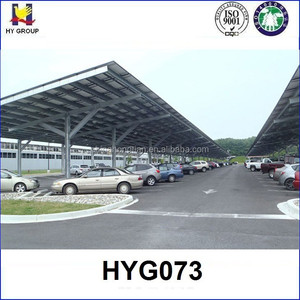 Prefabricated steel structure car parking shed roof design