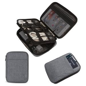 Double-Layer electronics travel case cable organizer
