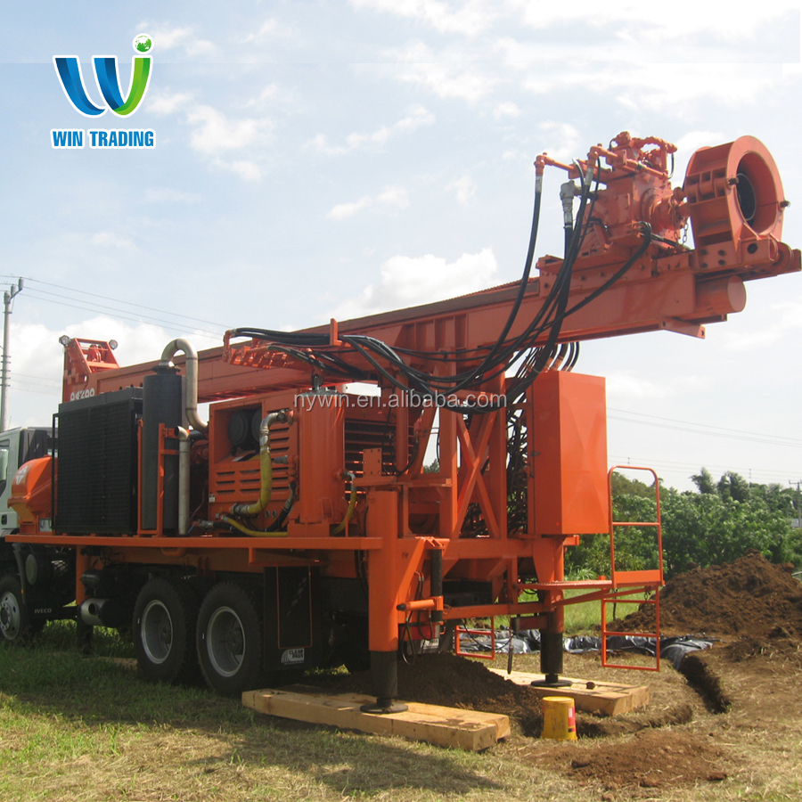 RG Truck mounted Full Hydraulic Mobile 300m Telescoping Type Water Well Bore Hole Drilling Rig Factory Price