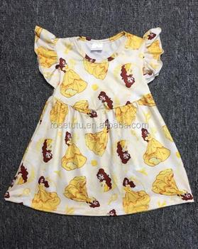 2017unique Baby Girl Names Images Simple Frock Design Pictures Kids Ruffle  Raglan Dress - Buy Unique Baby Girl Names Images,Simple Frock Design