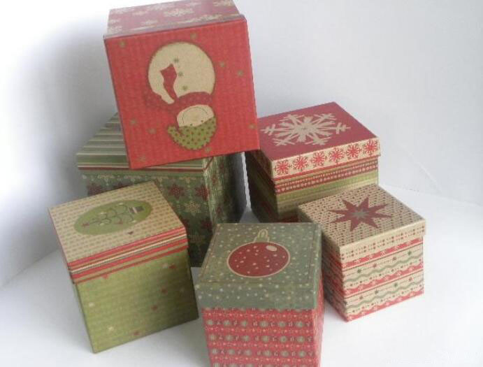 custom made christmas printed corrugated paper gift box