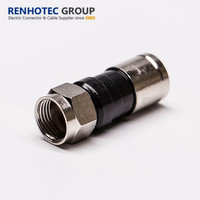 factory customized compression f male connector