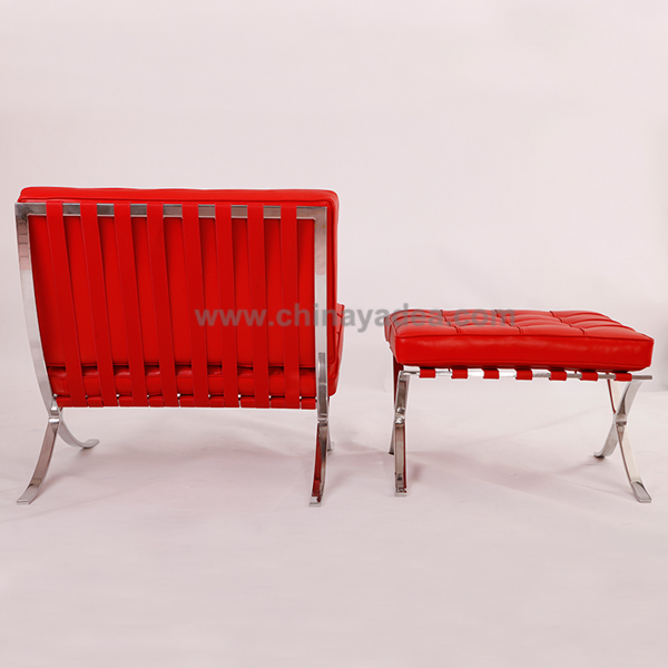 Design Furniture Italian Leather Barcelona Chair And Cushions