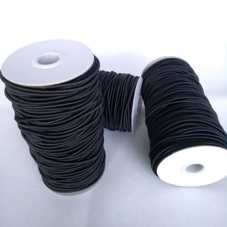 3 Black WAXED BRAIDED CORD 25 YARD BOBBIN GREAT FOR ALL HOBIES /& NEEDS
