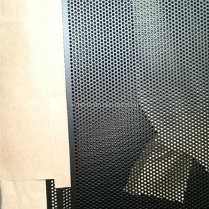 Round hole one way vision door screen perforated aluminum sheet