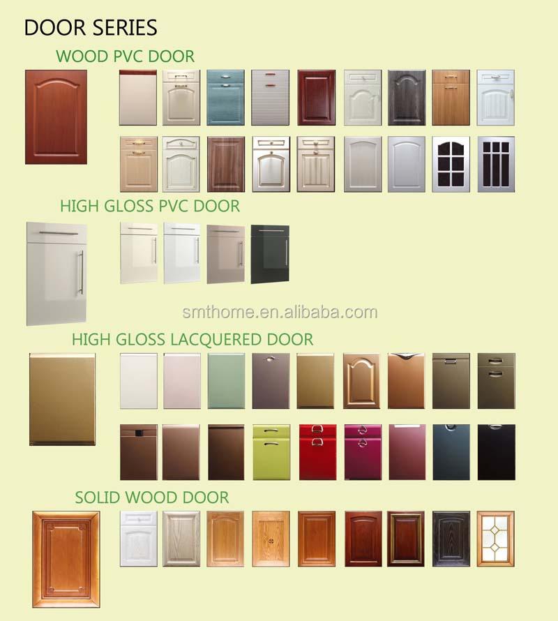 New High Gloss Black Handleless Replacement Kitchen Doors