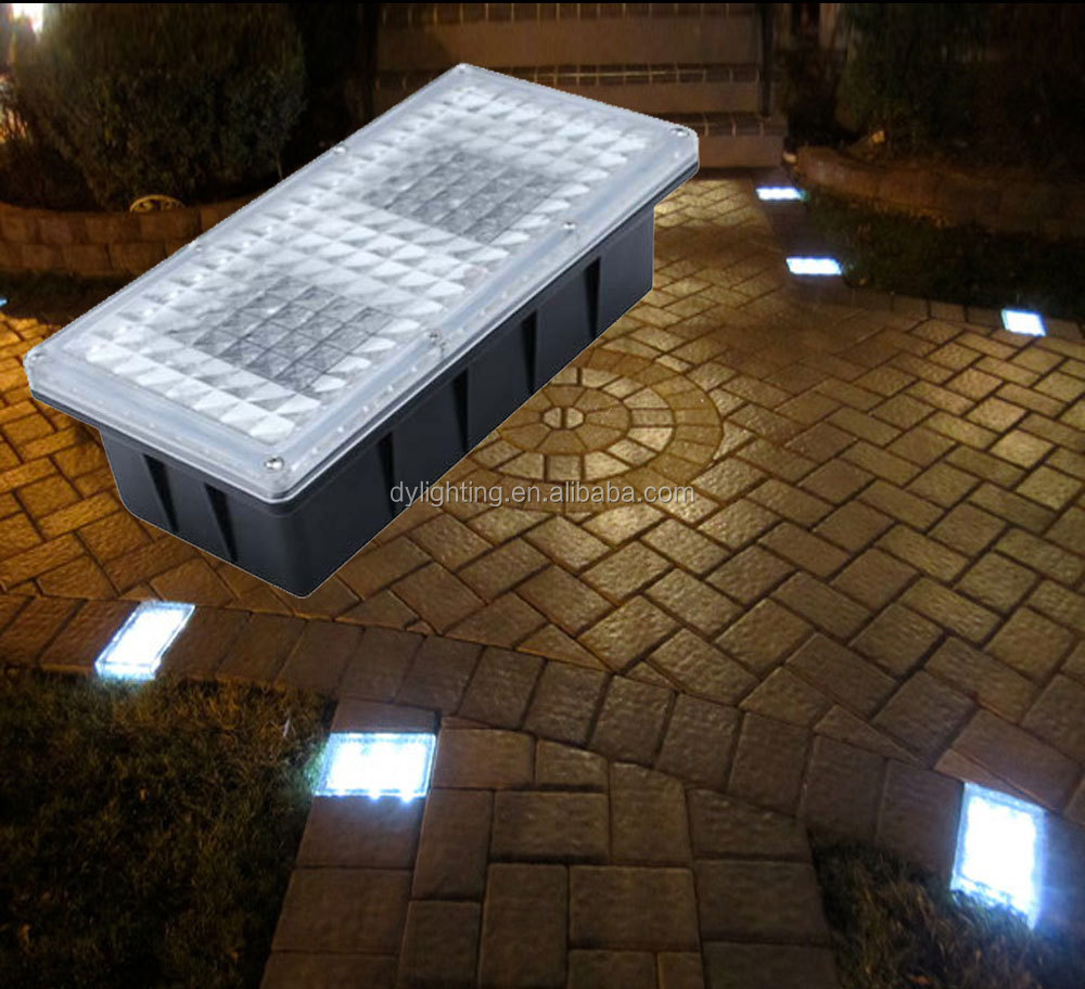 12V Outdoor Paver Brick Light for Landscape Lighting solar led brick light for Garden Wall led brick paver
