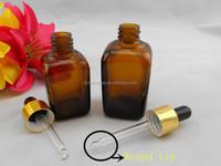 10 ml 30ml 55 ml amber square glass dropper bottles for organ oil