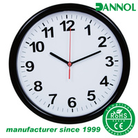 Classic promotion products 10 inch cheap plastic wall clock with plastic lens