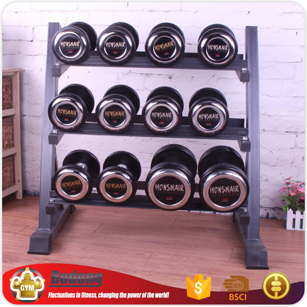 Newest hammer strength dumbbell rack two-layer dumbbell rack for foreign trade