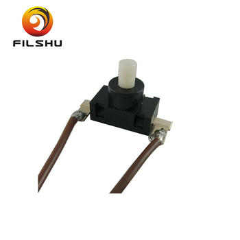 220V Cord Line Push Button Switch For Table Lamp