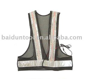 EL Safety Vest/LED reflective safety vest/high visibility vest width led light