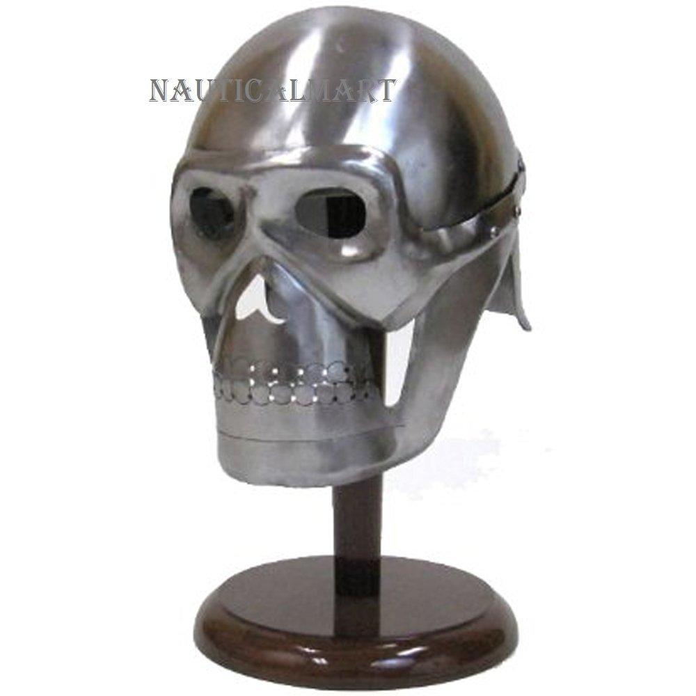 Medieval Steel Helmet With Visor : Ash Cycles