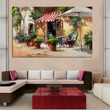 Free sample the beautiful outdoor landscape oil painting digital print picture on sale