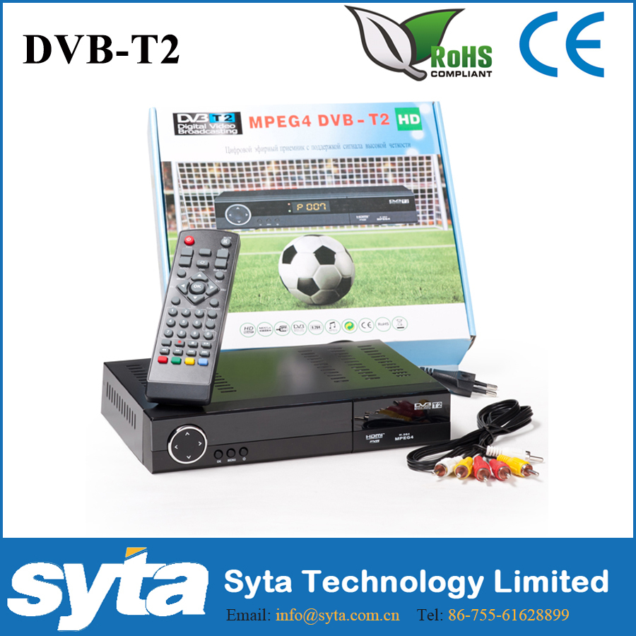 Syta Ghana DVD-T2 Set Top Box Per La TV Digitale Terrestre HD Mpeg4 Ricevitore Dvb t2 Ghana con PVR per S1023A