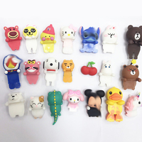 (Creative) Soft Silicone 3D Cartoon Dolls, cute Image Stereo Phone Case Doll, 3D Doll Pasted for Back Cover