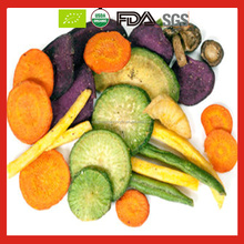 Vacuum Fried Mix Vegetables Chips as Health Snack