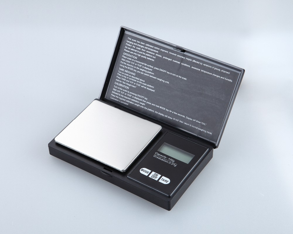 Digital Pocket Scale 500 x 0.01g, with Back-lit LCD Display, Mini Digital Weighing Scale 1000g for Jewelry Coins Reload