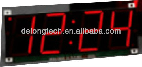 fashion red indoor led clock sign with CE and RoHS