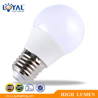 High efficiency IP20 E27 A50 plastic cover SMD 5 watt led bulb