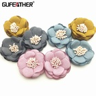GUFEATHER L52 Accessories Parts Jewelry Making Hand Made Diy Findings Necklace Material Flower Head,2pcs/pack