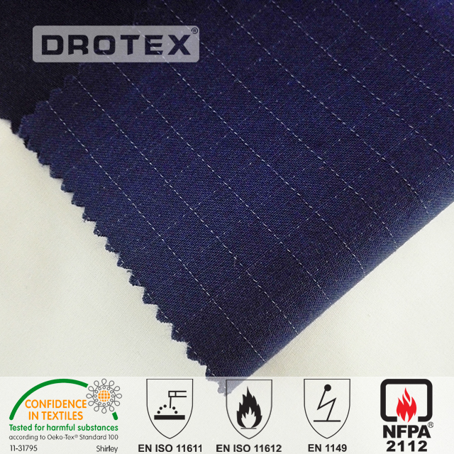 Aramid fire retardant fabric