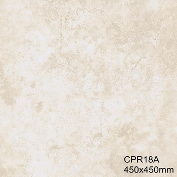 450 450mm Rectified Floor Tile With Off White Color And Glazed Porcelain Finishing