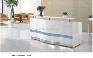 Modern style models office reception table design