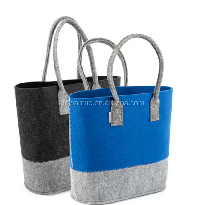 eco-friendly   custom hand made  felt  tote bag for gift felt shopping bag