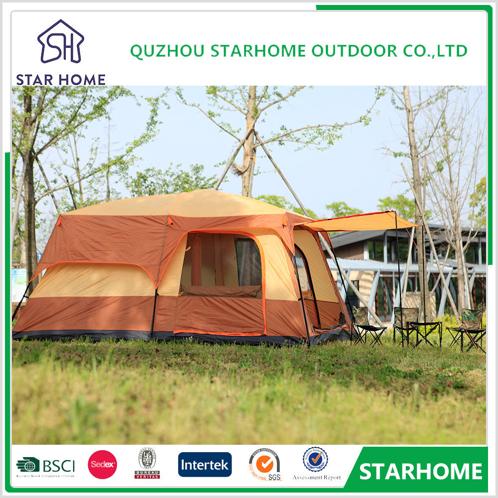 300*430*210cm Area size 8-10 person camper tent camouflage camping tents tent for sale