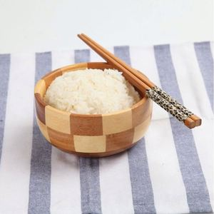 High quality factory wholesale round bamboo wooden salad bowl mushroom soup bowl rice bowl