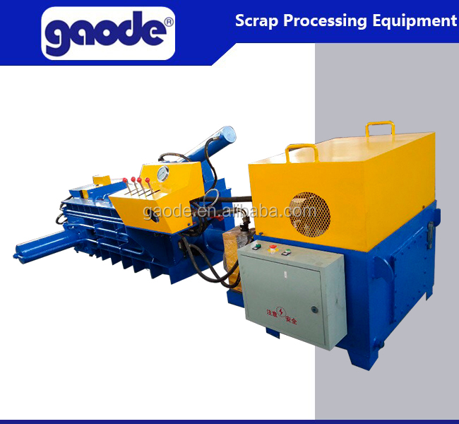 Resource Recycling Processing Scrap Metal Hydraulic Baler