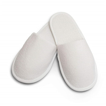 Hot sale classical Unisex close toe 100% cotton spa white hotel terry towel slipper