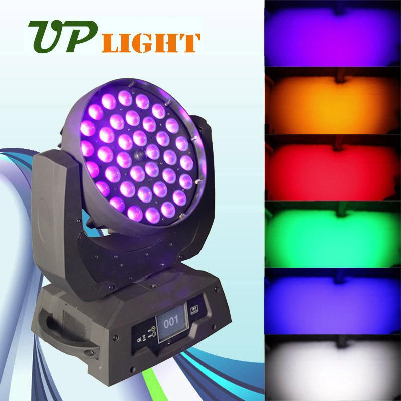 Zoom 18w rgbwa+uv 6in1 moving head wall wash led lighting