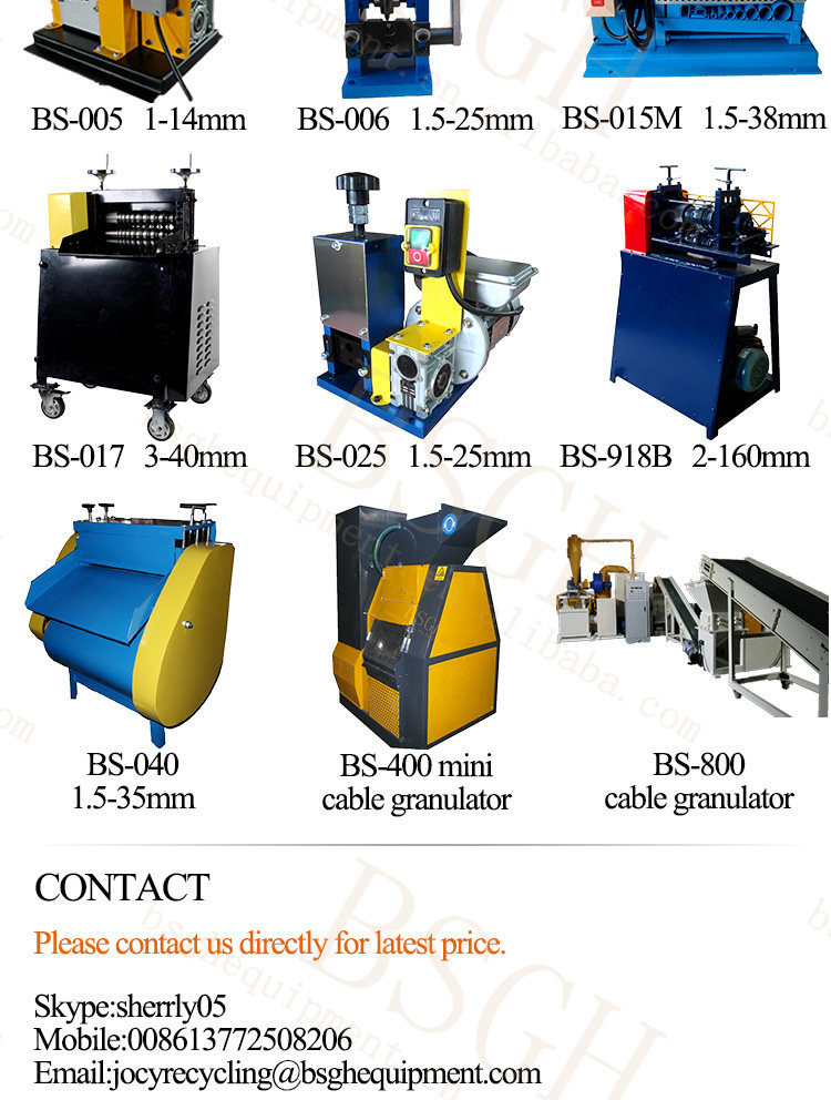 Best Seller Mini Bs-400 Copper Wire Recycling Machine For Cable ...