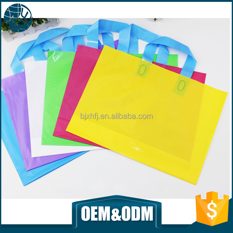 Customized clear logo printed handle plastic bags wholesale pvc tote bag