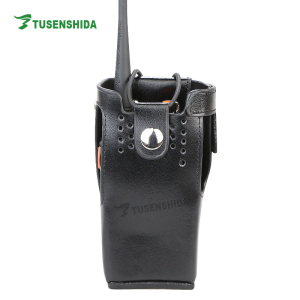 Leather Case for GP338 GP328 plus GP760 plus motorola walkie talkie carry case