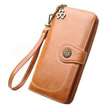 도매 빈티지 oil 가죽 긴 design pu leather women's clutch <span class=keywords><strong>지갑</strong></span>