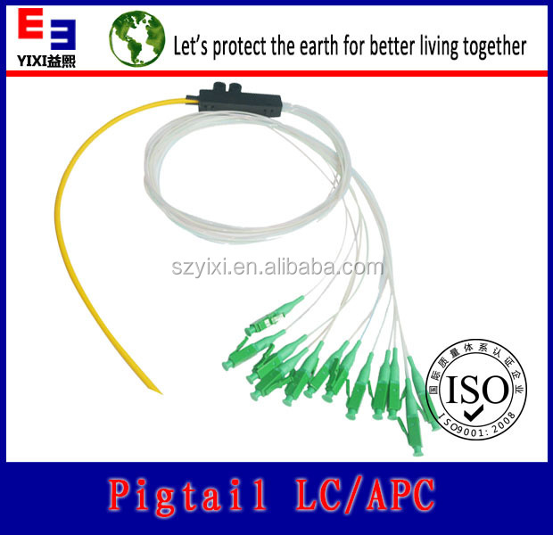 long time warranty 12 core fiber optic pigtail with conector lc fiber