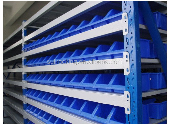Warehouse using type plastic stackable storage bin