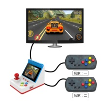 Yangliming 8 bit 3.0 inch 360 games met twee joysticks handgrepen ondersteuning tv connection Av kabel <span class=keywords><strong>handheld</strong></span> game retro <span class=keywords><strong>arcade</strong></span> fc