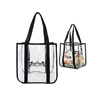 Bikini Bioga Storage Blanket Drawstring Plastic Coated Bag's Fabric Canvas Clear PVC Bag