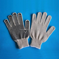 knitted cotton gloves with pvc dots manufacture