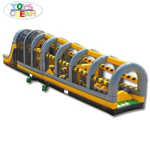 Fantastic inflatable Toxic drop adult obstacle course Indoor playground for sale
