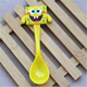 2017 NEW design cartoon cute plastic baby kids soup rice spoon for sale