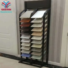 Showroom Metalen Waterval Keramische Graniet Mozaïek Quartz Steen Tegel Display Rack