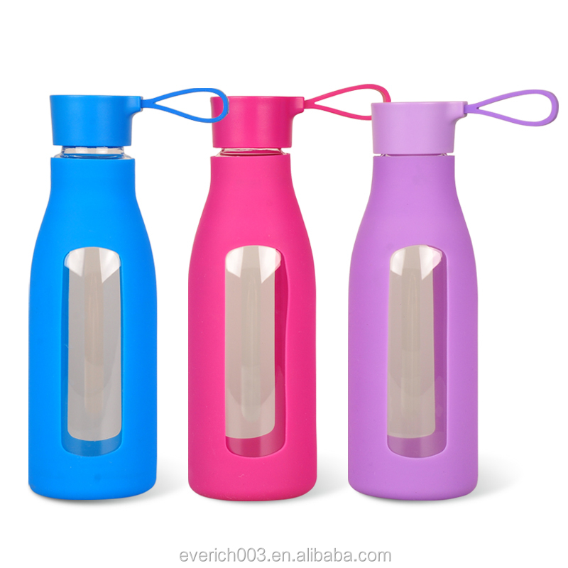Bulk Item Single Wall Cycling 600ml BPA Free Eco-friendly High Quality Glass Bottle