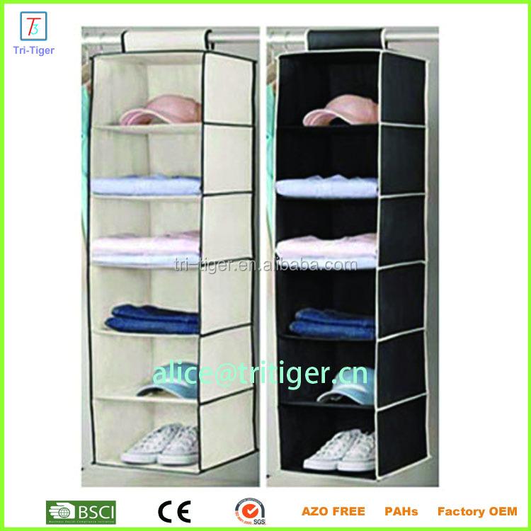 6 Shelf Shoes Clothing Underwear Hanging Closet Organizer